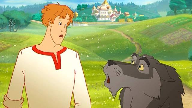 картинки из мультфильма-иван царевич и серый волк