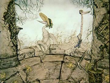 The heron and the crane by yuri norstein (1974) (click on the image above to see this film on youtube)